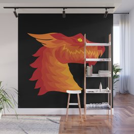 Friendly Dragon Face Wall Mural