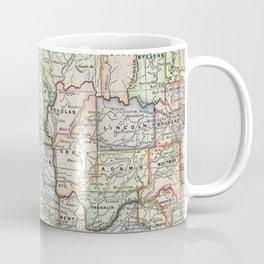 Vintage Map of Washington State (1914) Coffee Mug