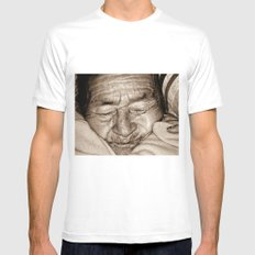 MY GRANDMOTHER Mens Fitted Tee White MEDIUM