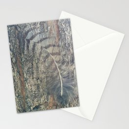 Bark Feather Stationery Cards