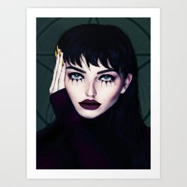Samay the witch Art Print