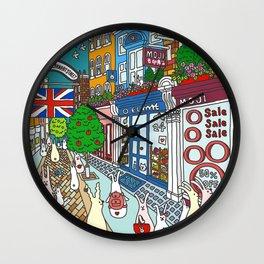 Bunnies in London Carnaby Street Wall Clock