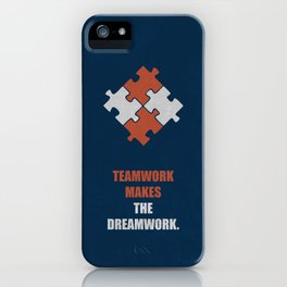 Lab No. 4 - Teamwork makes the dreamwork corporate start-up quotes Poster iPhone Case