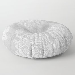 Lace & Shadows 2 - Monochrome Moroccan doodle Floor Pillow