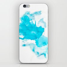 Turquoise splash iPhone & iPod Skin
