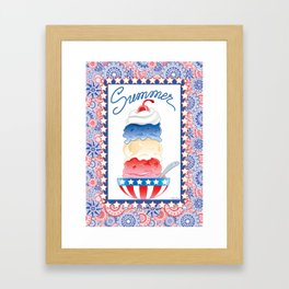 Summer Sundae Framed Art Print