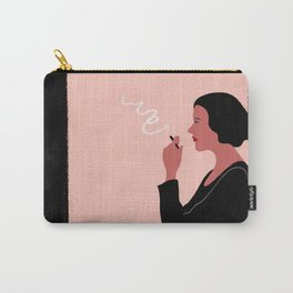 The Lady With a  Cigarette Carry-All Pouch