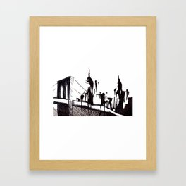 Brooklyn Bridge.. Framed Art Print