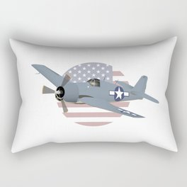 WW2 F6F Hellcat Airplane Rectangular Pillow