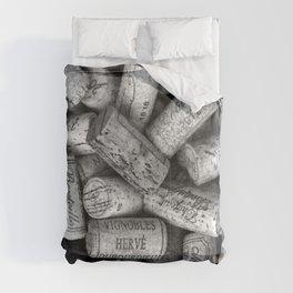 Vintage Wine Bottle Corks Comforters