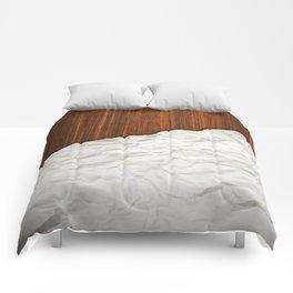 Wooden Crumbled Paper Comforters