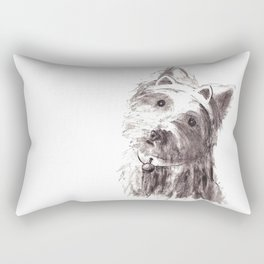 Bon Bon - the cat-like dog Rectangular Pillow
