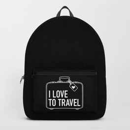 I Love To Travel Backpack