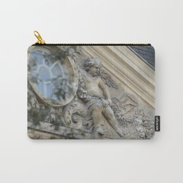Baroque angel on Parisian mansion facade Carry-All Pouch