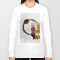 scandinavian Long Sleeve T-shirts featuring Geometric Abstract Art, Modern, Minimal, Scandinavian, nordic by Easyposters
