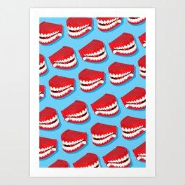 Chattering teeth Art Print