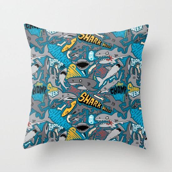 SHARK WEEK! Throw Pillow