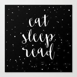 Eat, Sleep, Read (Stars) Canvas Print