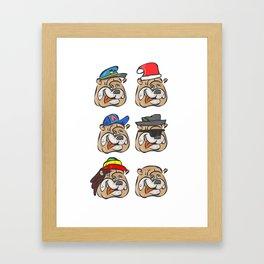 Full dogs Framed Art Print