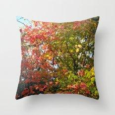 Autumn Leaves I Throw Pillow