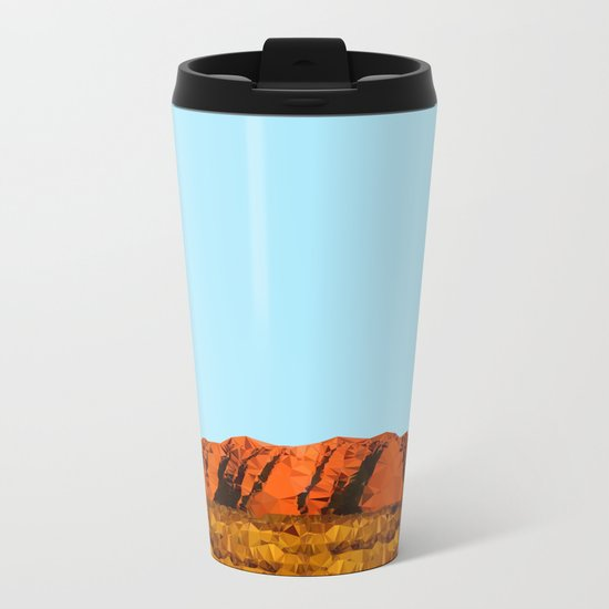 uluru polygon Metal Travel Mug