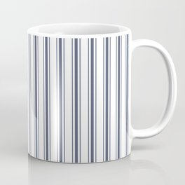 Dark Sargasso Blue Mattress Ticking Wide Striped Pattern - Fall Fashion 2018 Coffee Mug