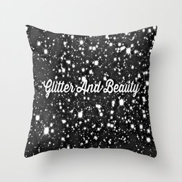 Glitter And Beauty Throw Pillow