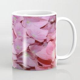 Pink Hydrangea Flowers Background Coffee Mug