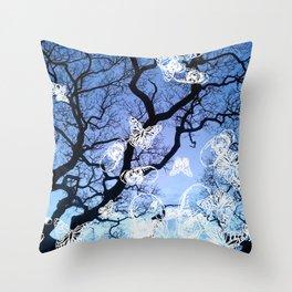 Llansteffan woodland Throw Pillow