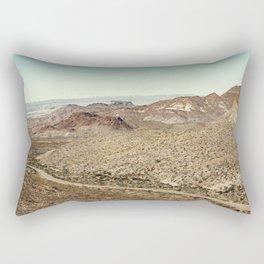 Big Bend National Park Autumn Landscape Sotol Vista Overlook Rectangular Pillow