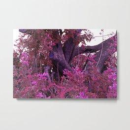Pink red alien planet tree bright Metal Print