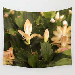 Christmas Cactus Buds and Blooms Wall Tapestry