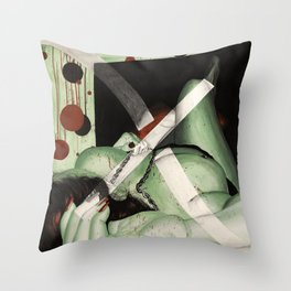 Chilled Mint Green (nude 8) Throw Pillow