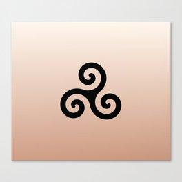 Triskele 7 -triskelion,triquètre,triscèle,spiral,celtic,Trisquelión,rotational Canvas Print