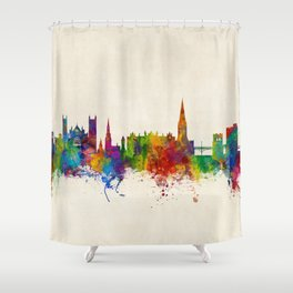 Exeter England Skyline Shower Curtain