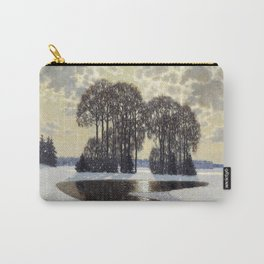 Winter by Vilhelms Purvītis - Latvian Lettish Fine Art - Purvitis Carry-All Pouch