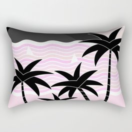 Hello Islands - Pink Skies Rectangular Pillow