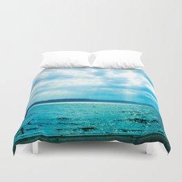 Turquoise Beach Duvet Cover