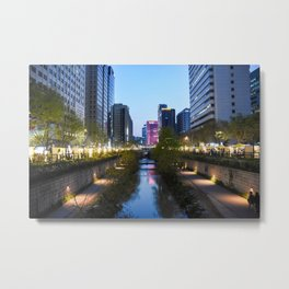 Stream at night Metal Print
