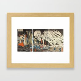 Takiyasha the Witch and the Skeleton Spectre Framed Art Print