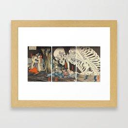 Takiyasha the Witch and the Skeleton Spectre Framed Art Print
