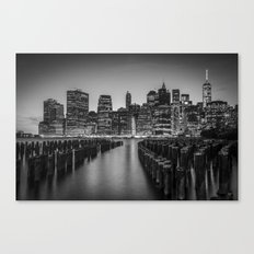 Manhattan at Night Canvas Print