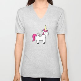 Unicorn Cookie Unisex V-Neck