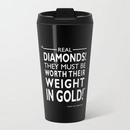 Real Diamonds! Travel Mug