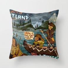 Postcard from Lewis + Clark Throw Pillow