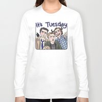 enerjax Long Sleeve T-shirts featuring It's Tuesday by enerjax