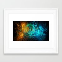 holographic Framed Art Prints featuring Holographic Chaos by noistromo