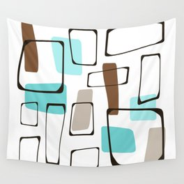 Midcentury Modern Shapes Wall Tapestry