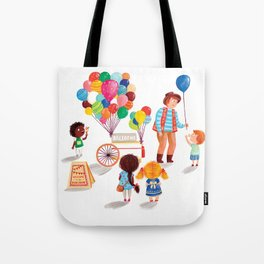 Balloon Stand Tote Bag
