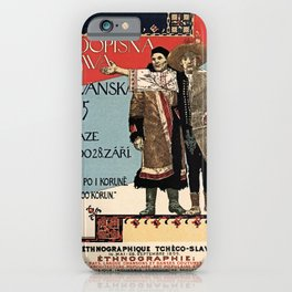 Czechoslav ethnographic exposition vintage ad iPhone Case
